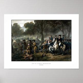 General George Washington In Battle Poster