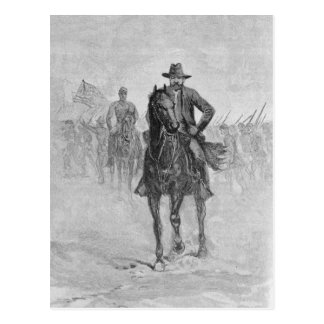 General Grant reconnoitering Postcard