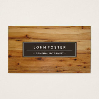 General Internist - Border Wood Grain Business Card