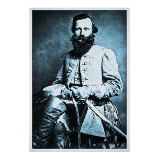 General J.E.B. Stuart Civil War Hero Poster