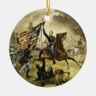 General Kearny's Charge in the Battle of Chantilly Ceramic Ornament