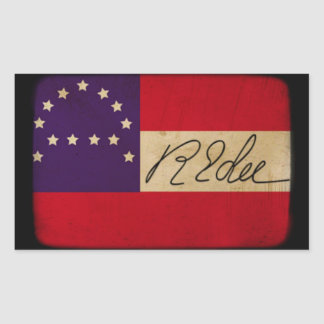 General Lee Headquarters Flag with Signature
