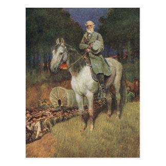 General Lee on his Famous Charger, 'Traveller' Postcard