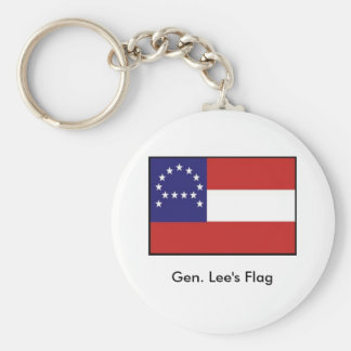 General Lee's Headquarters Flag Basic Round Button Keychain