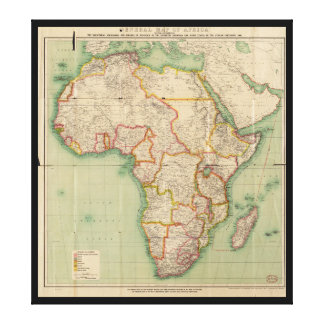 General Map of Africa (1909) Canvas Print