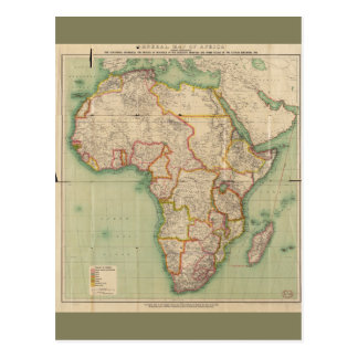 General Map of Africa (1909) Postcard