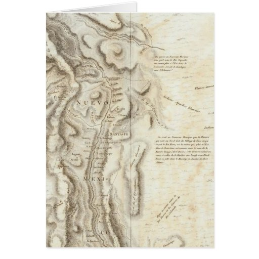 General map of the Kingdom of New Spain Greeting Card