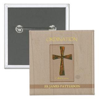 General Ordination Congratulations, Metal Design C 2 Inch Square Button