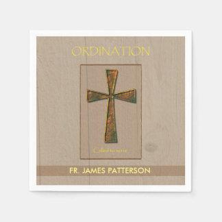 General Ordination Congratulations, Metal Design C Paper Napkins
