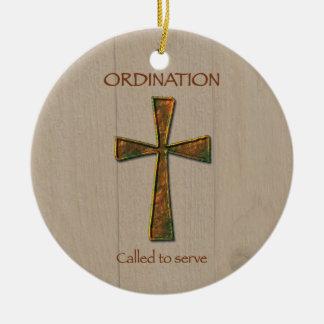General Ordination Congratulations, Metal Design C Round Ceramic Ornament
