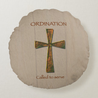 General Ordination Congratulations, Metal Design C Round Pillow