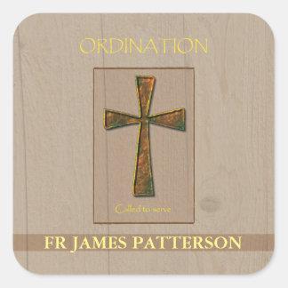 General Ordination Congratulations, Metal Design C Square Sticker