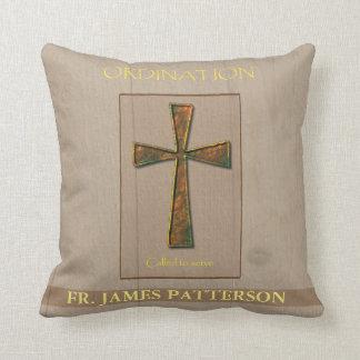 General Ordination Congratulations, Metal Design C Throw Pillows