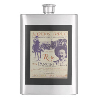 General Pancho Villa Mexican Hero Hip Flask