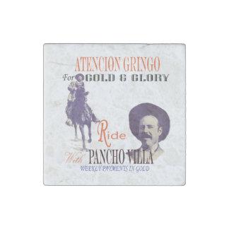 General Pancho Villa Stone Magnets