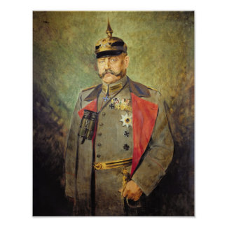 General Paul von Hindenburg, c.1916 Poster
