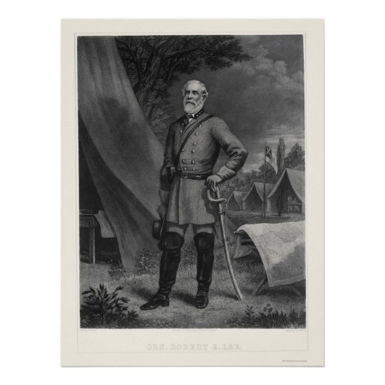 General Robert E Lee 1867 Poster