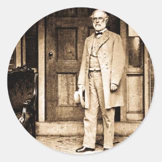 General Robert E. Lee Vintage Mathew Brady Round Sticker