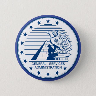 General Services Administration 2 Inch Round Button