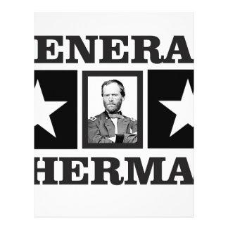 general Sherman art Letterhead Template
