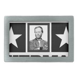 general Sherman art Rectangular Belt Buckle