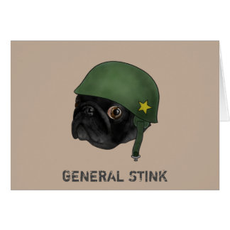 General Stink greetings card