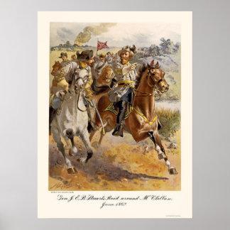 General Stuart's Raid by Henry Alexander Ogden Poster