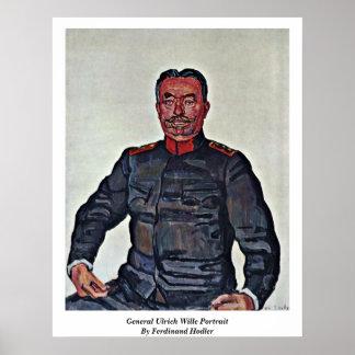 General Ulrich Wille Portrait By Ferdinand Hodler Poster