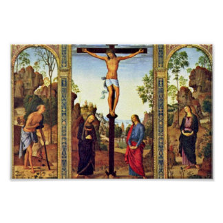 General View Galitzine Triptych Crucifixion With M Poster