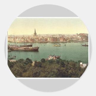 General view, Kiel, Schleswig-Holstein, Germany cl Classic Round Sticker