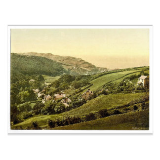 General view, Lee (Devon), England classic Photoch Postcard