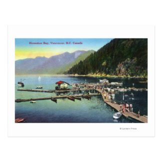 General View of Horseshoe Bay and Crowded Harbor Postcard