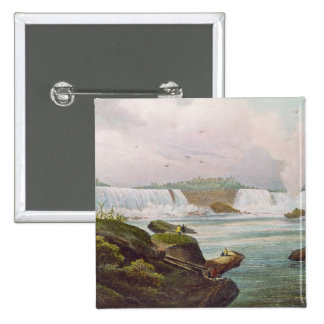 General View of Niagara Falls from Canadian Side 2 Inch Square Button