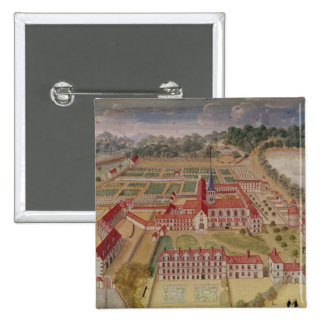 General View of the Abbey 2 Inch Square Button