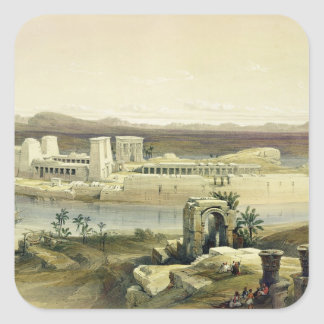 General View of the Island of Philae, Nubia, from Square Sticker