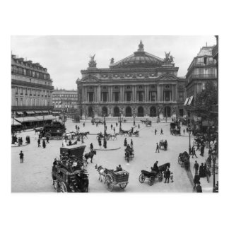 General view of the Paris Opera House Postcard