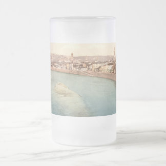 General View of Verona, Veneto, Italy Frosted Glass Beer Mug