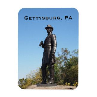 General Warren statue in Gettysburg PA Rectangular Photo Magnet