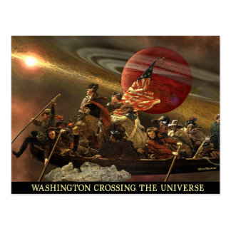 General Washington Crossing the Universe Postcard