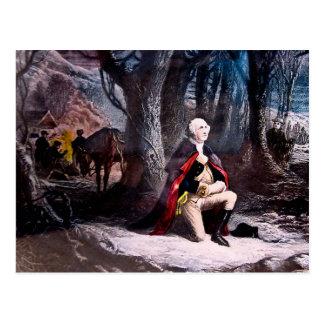General Washington Praying at Valley Forge PA Postcards