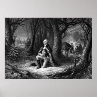 General Washington Praying At Valley Forge Poster