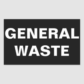 General Waste Sign Sticker
