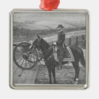 General William Tecumseh Sherman at Atlanta Metal Ornament