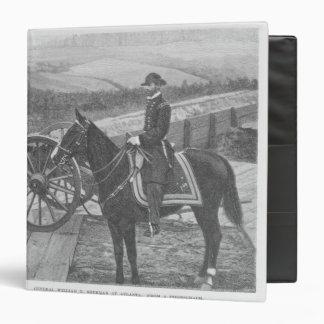 General William Tecumseh Sherman at Atlanta Vinyl Binder