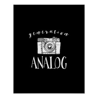 Generation Analog Vintage Camera Photographer Poster