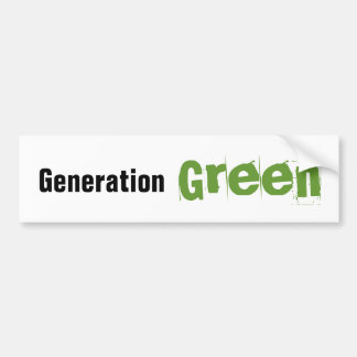 Generation Green Bumper Sticker
