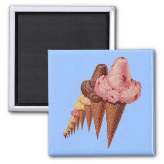 generations of ice cream cones magnet