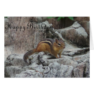 Generic Birthday Card Chipmunk