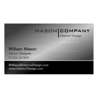 Generic Black & Steel Corporate Business Card