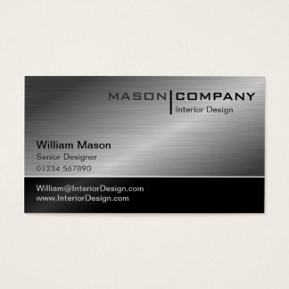 Generic Black & Steel Corporate Business Card